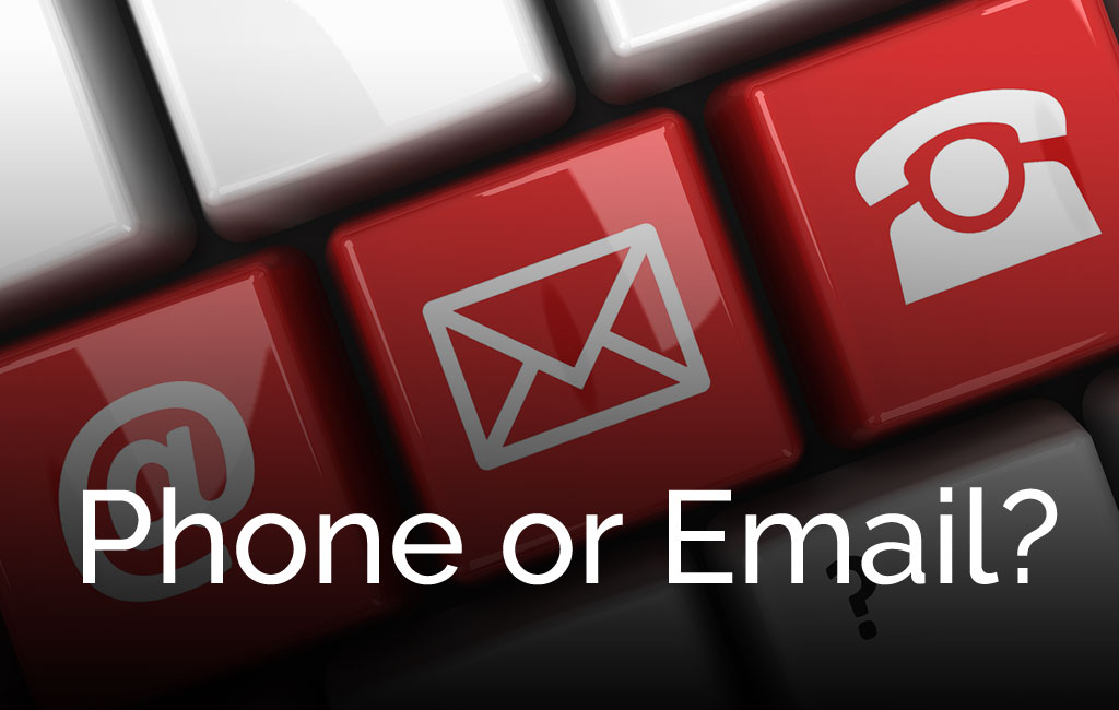 Phone or email